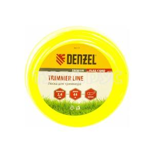 Леска для триммера круг 2,4 мм х 44 м блистер FLEX CORD DENZEL 96119
