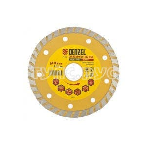 Диск алмазный отрезной Turbo (115х22.2 мм) DENZEL 73106