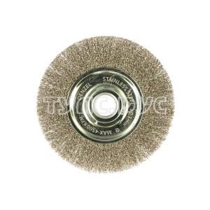 Щетка Плоская (150х22.2 мм; витая нержавеющая проволока 0.3 мм) для УШМ DENZEL 746643
