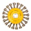 Щетка Тарелка (125 мм; М14; крученая нержавеющая проволока 0.5 мм) для УШМ DENZEL 746113
