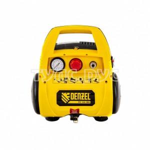 Воздушный безмасляный компрессор DENZEL РС 1 6-180, 1,1 кВт, 180 л мин, 6 л 58057