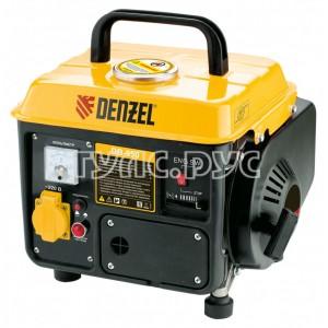 Бензиновый генератор 220В/50Гц, 4 л, ручной пуск Denzel DB950 94650