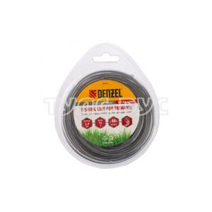 Леска двухкомпонентная для триммера, круглая DENZEL 96180