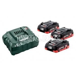 Аккумуляторы 3 шт. (5,2 А*ч; 18 В; Li-Ion) и ЗУ ASC 30-36 Basic-Set Metabo 685048000