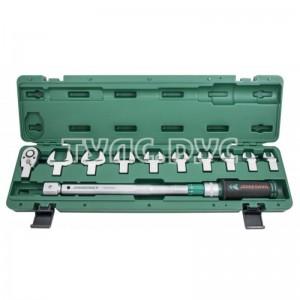 Динамометрический ключ 1/2 дюйма DR (со сменными рожковыми насадками 13-30 мм и приводом) 40-200 Нм Jonnesway T30200NS