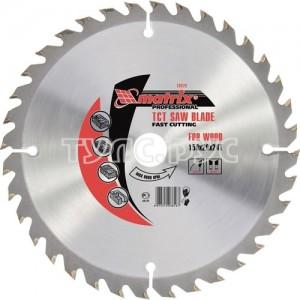 Пильный диск по дереву, 165 х 20мм, 24 зуба, кольцо 16/20 Matrix 73221