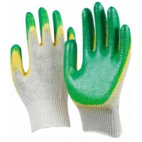 Перчатки трикотажные ХБ с двойным латексным обливом