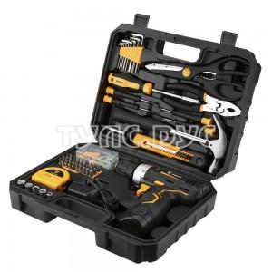 Аккумуляторная дрель + набор 104 инструментов для дома в кейсе Deko GCD12DU3 063-4095