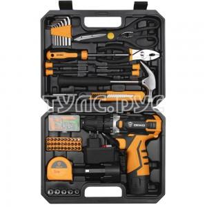 Аккумуляторная дрель-шуруповерт DEKO DKCD12FU-Li в кейсе + набор инструментов 104 шт 063-4117