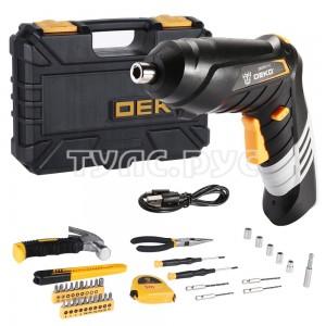 Аккумуляторная отвертка DEKO DKS4FU-Li в кейсе  + набор инструментов 36 предметов 063-4152