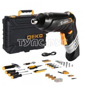 Аккумуляторная отвертка DEKO DKS4FU-Li в кейсе  + набор инструментов 112 предметов 063-4153