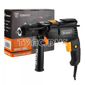 Дрель ударная сетевая DEKO DKID600W с быстрозажимным патроном 063-4162