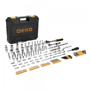 Профессиональный набор инструментов для авто DEKO DKAT150 в чемодане  (150 предметов) 065-0912