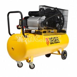 Компрессор воздушный BCV2300/100, ременный привод, 2,3 кВт, 100 литров, 440 л/мин Denzel 58111
