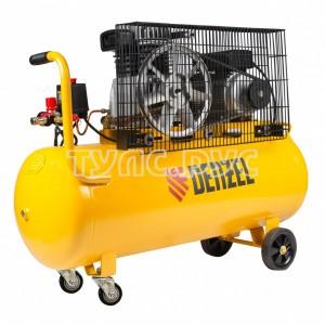 Компрессор воздушный BCI2300/100, ременный привод, 2,3 кВт, 100 литров, 400 л/мин Denzel 58114