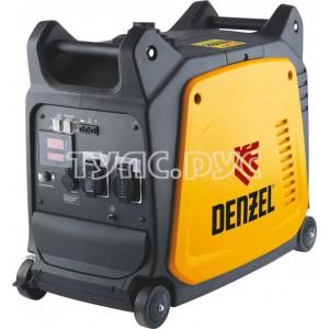 Инверторный генератор 2,6 кВт, 220В, цифровое табло, бак 7,5 л DENZEL GT-2600i X-Pro 94643