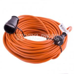 Силовой удлинитель-шнур DENZEL, 15м, 1 розетка, 10A, тип УХ10 95911