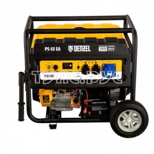 Генератор Denzel PS 55 EA, 5,5 кВт, 230В, 25л 946874