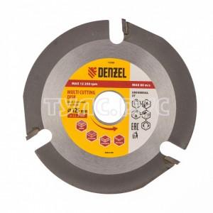 Диск пильный Мультирез (22.2х125 мм) для УШМ DENZEL 73398