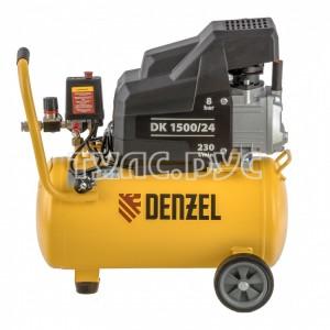 Воздушный компрессор DENZEL DK1500/24,Х-PRO 1,5 кВт, 230 л/мин, 24 л 58063