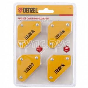 Набор из 4 магнитных фиксаторов для сварочных работ DENZEL 97555