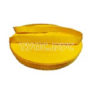 Ременная лента Эбис 25 мм (50 м) желтая 72429