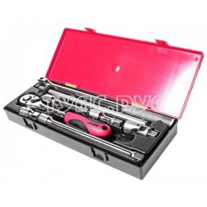 """Набор инструментов 1/2"""" (удлинители, воротки, трещотка-резин.рукоятка) в кейсе 8 предметов JTC /1 JTC-K4082"""