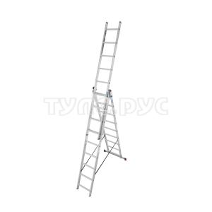 Трехсекционная алюминиевая лестница 3х9 Krause Corda 010391
