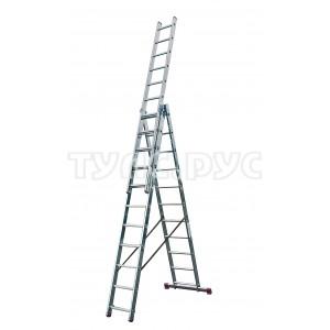 Алюминиевая трехсекционная лестница 3х11 Krause Corda 010421