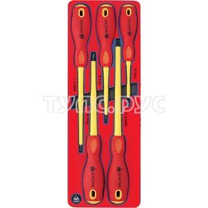 Набор диэлектрических отверток, ложемент, 5 предметов МАСТАК 5-4005E