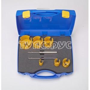 ProFit Набор коронок универсальный 8 шт, 2 Click & Drill, 25-80 мм, в пластиковом кейсе  L009082580D
