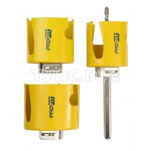 ProFit Набор коронок универсальный 3 шт, Click & Drill, 60-80 мм, в тубе  L9086080DT2
